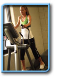 Woman doing cardio training in an Erie, PA health club